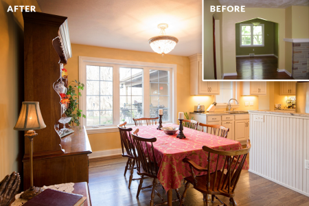 Bachman Renovation — Dining Room Before & After