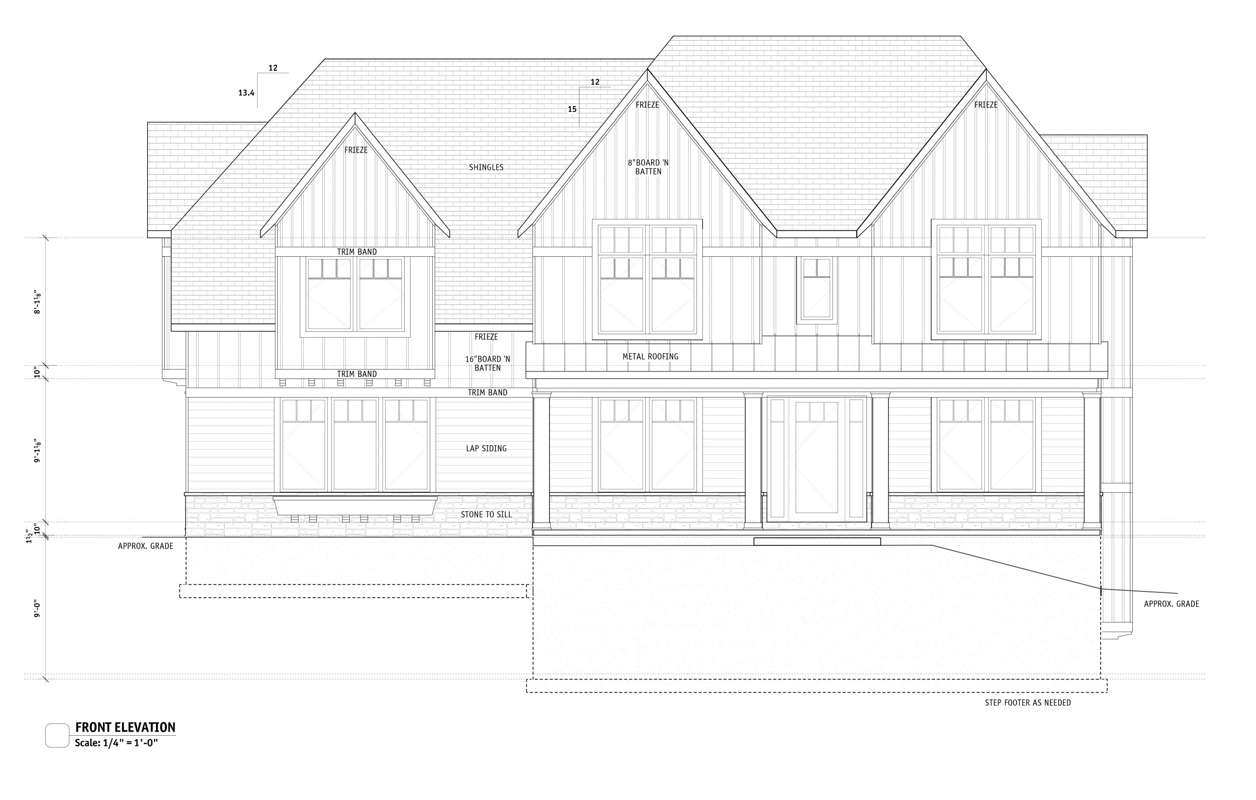 Spec home being built at Mallard Pond by Bachman Builders