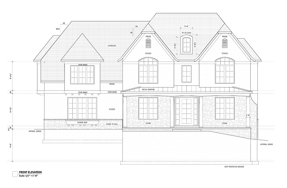 New spec home rendering by Bachman Builders at Mallard Pond site