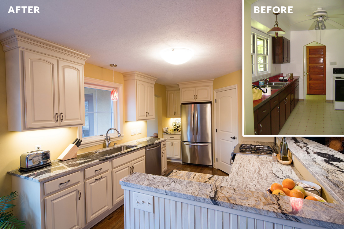 Bachman Renovation — Kitchen Before & After | Bachman Builders