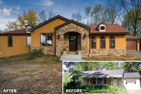 Bachman Renovation — Exterior Before & After