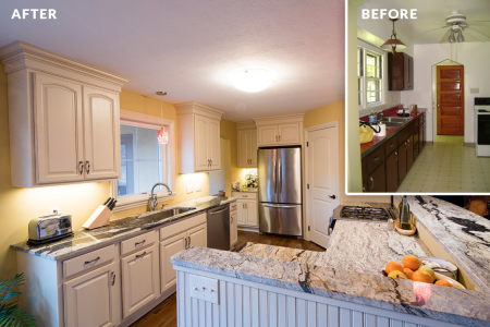 Bachman Renovation — Kitchen Before & After