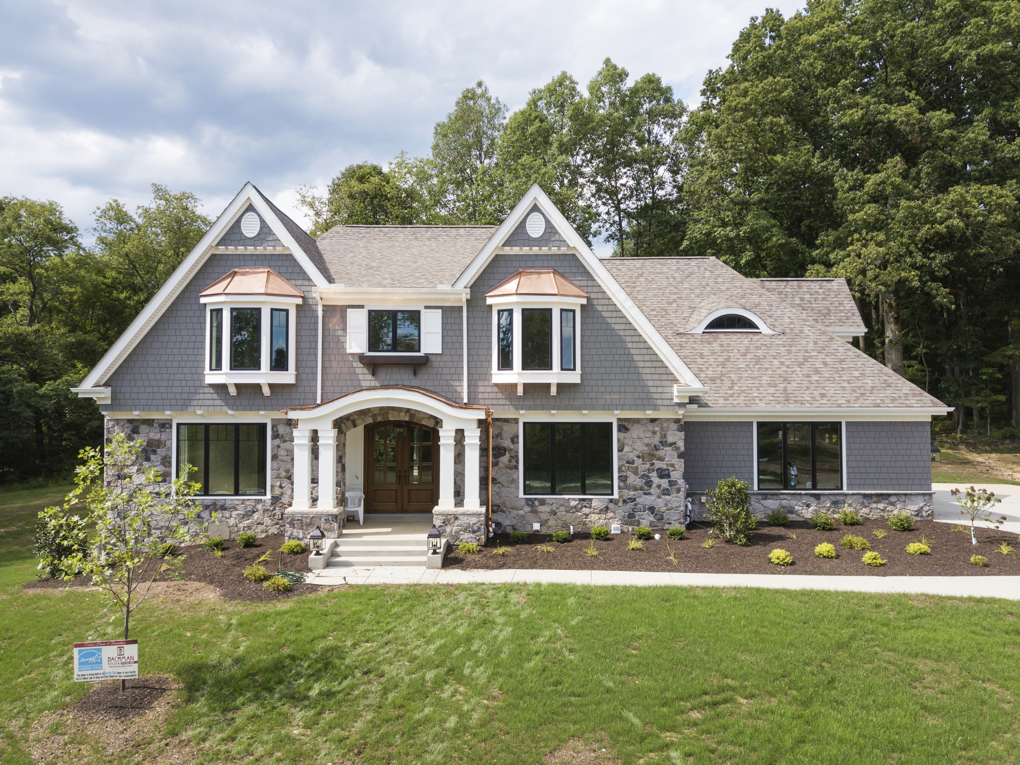 Custom home built by Bachman Builders at Mallard Pond